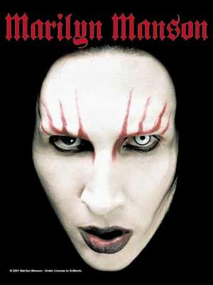 vlajka Marilyn Manson - Head Shot - HFL0315