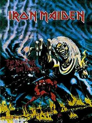 vlajka Iron Maiden - Number Of The Beast - HFL0049
