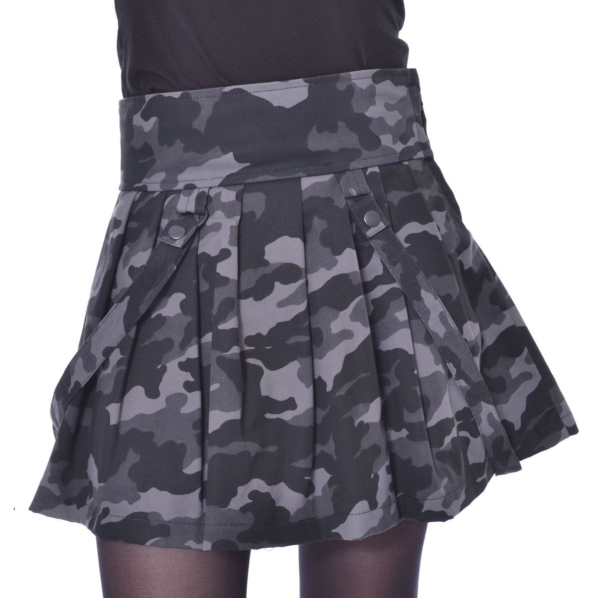 sukně dámská HEARTLESS - JANICE SKIRT - GREY CAMO - POI788 S