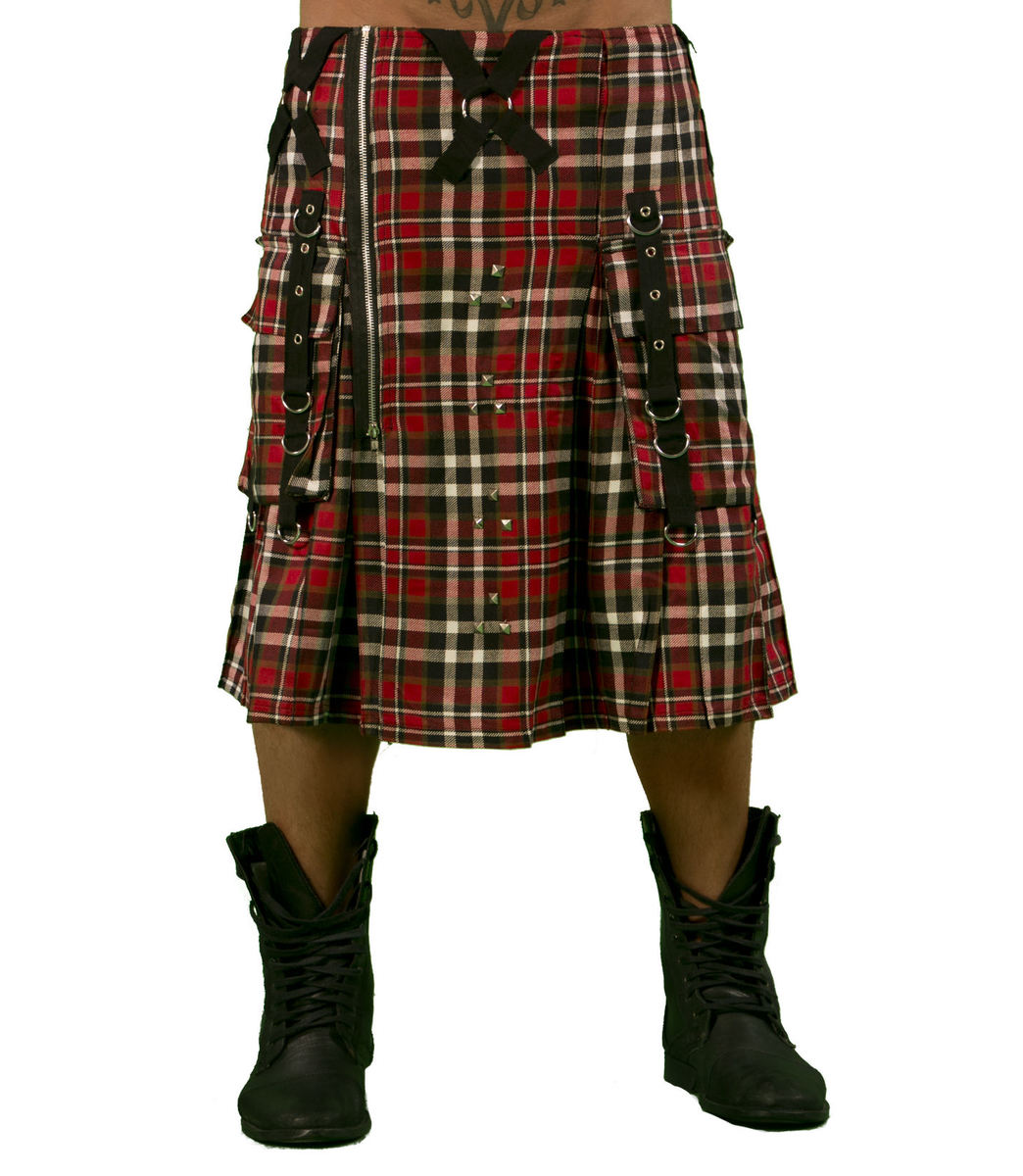 kilt pánský DEAD THREADS - Red Tartan - KC9718 30