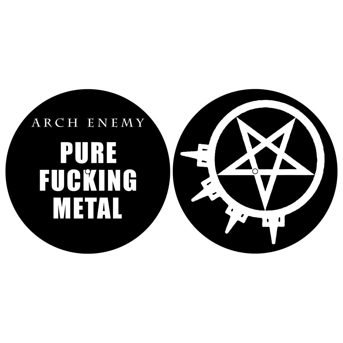 podložka na gramofon (set 2ks) ARCH ENEMY - PURE FUCKING METAL - RAZAMATAZ - SM031