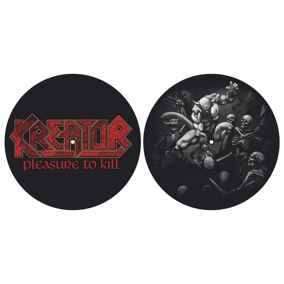 podložka na gramofon (set 2ks) KREATOR - PLEASURE TO KILL - RAZAMATAZ - SM008
