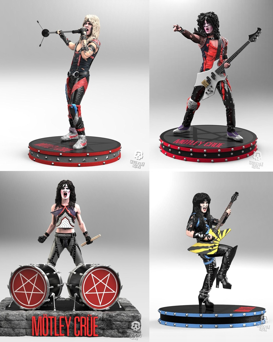 figurky (set) Mötley Crüe - Band - Rock Iconz - KNUCKLEBONZ