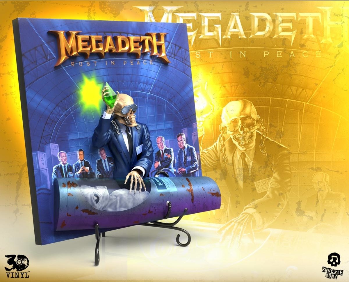 dekorace Megadeth - Rust In Peace - KNUCKLEBONZ - KB3DVMDRUST100