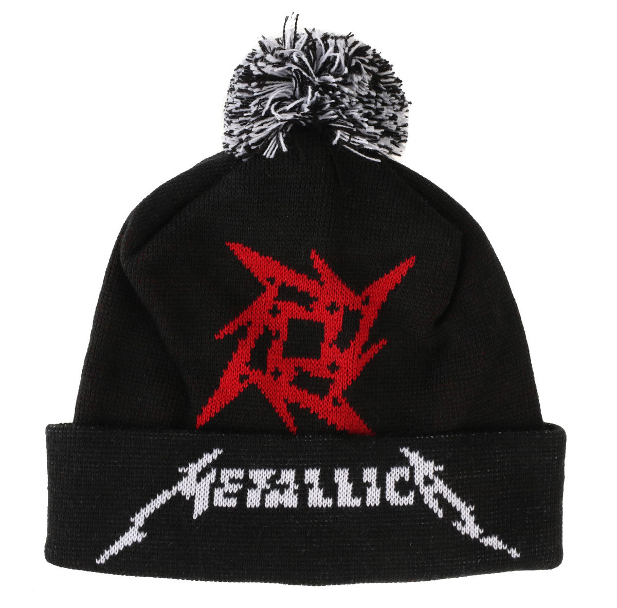 kulich Metallica - Glitch Star Logo - Black Woven Bobble - RTMTLBEBGLI