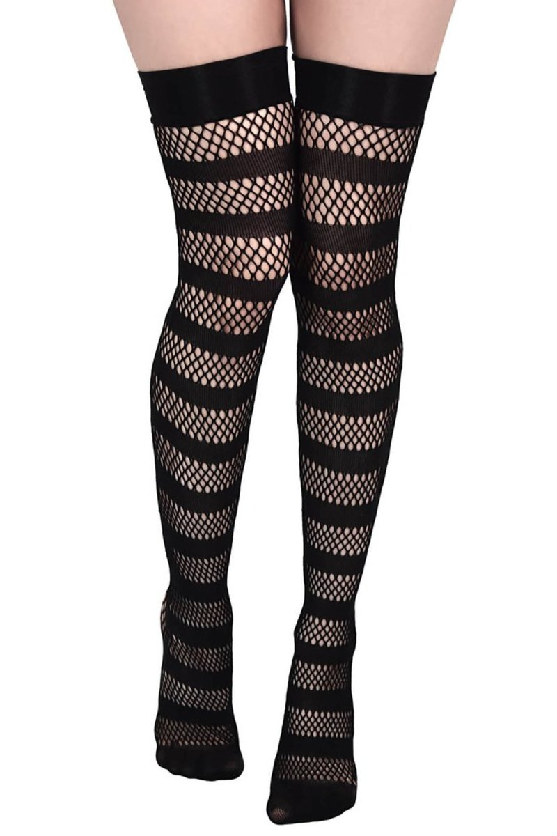 nadkolenka KILLSTAR - SHENA FISHNET - BLACK - KSRA000079