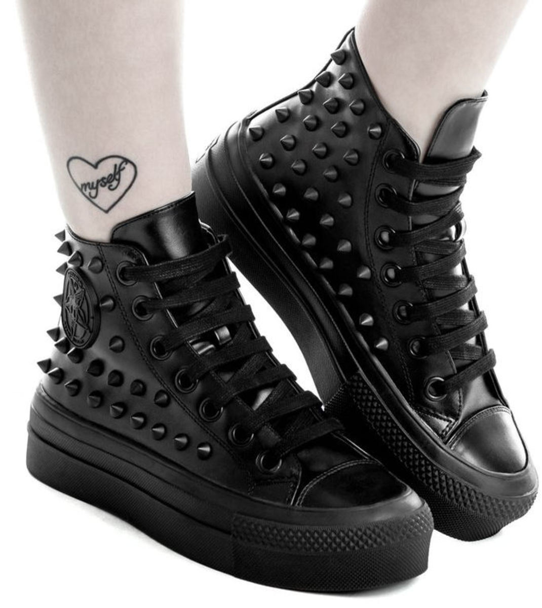 boty s klínem unisex - SOULED OUT HIGH TOPS - KILLSTAR - K-FTW-F-2690 36