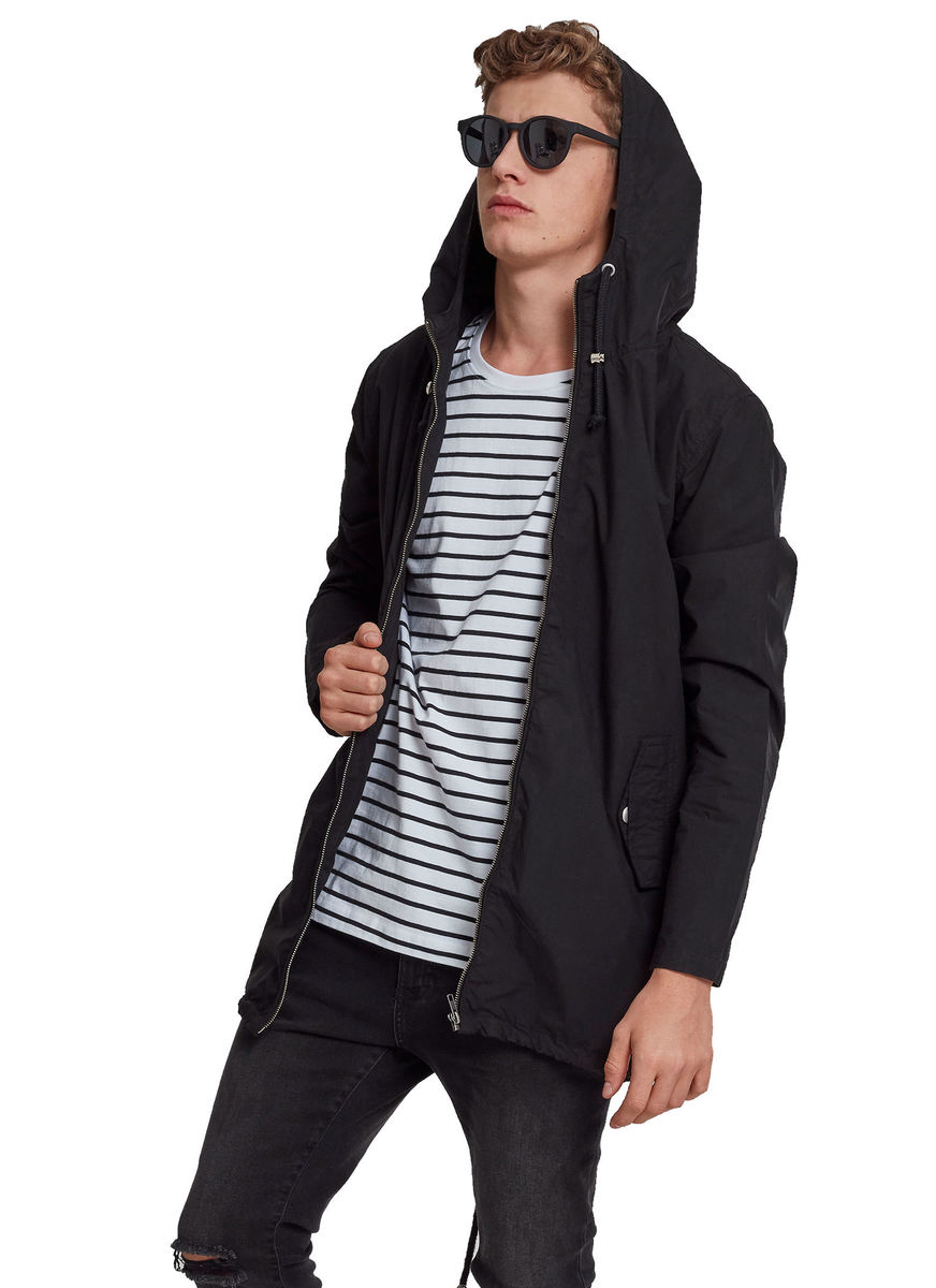bunda jarněpodzimní - Light Cotton Parka - URBAN CLASSICS - TB2094_black