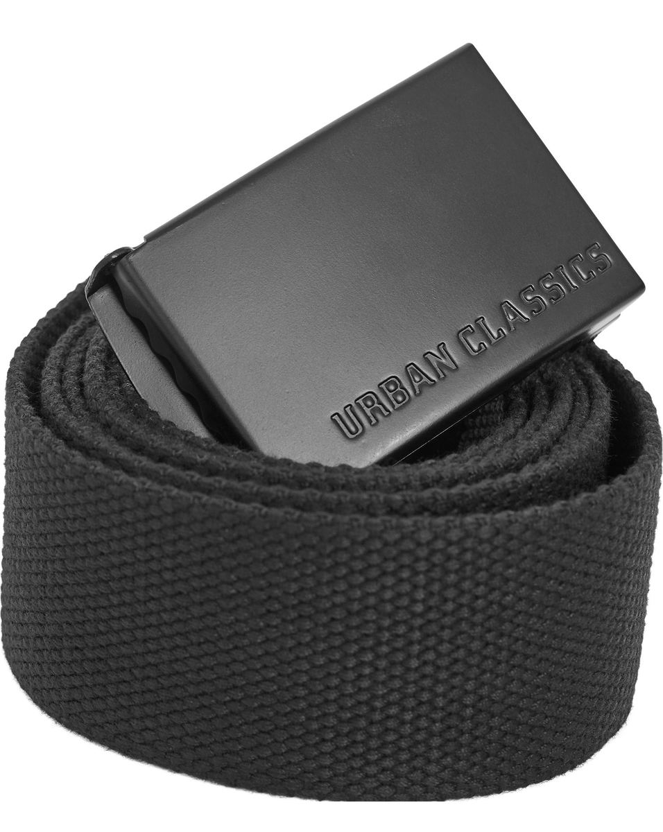 pásek URBAN CLASSICS - Long Canvas Belt - TB2172_black