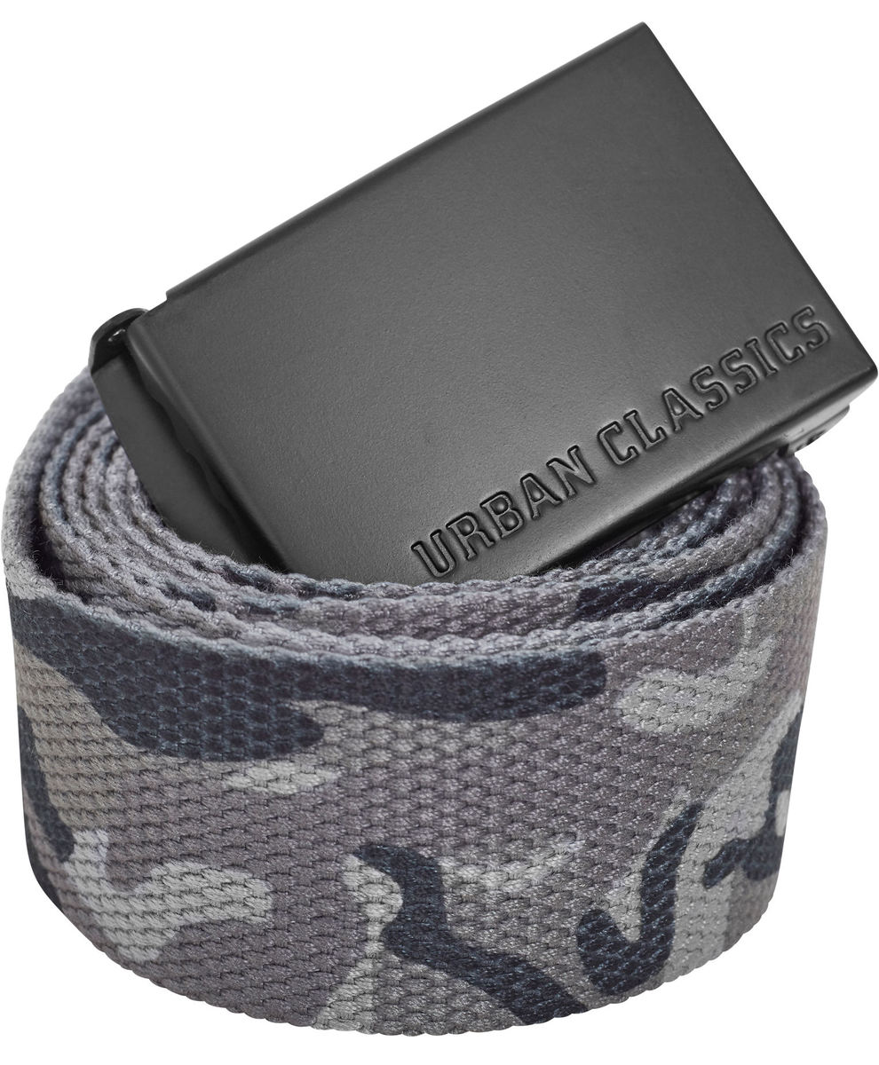 pásek URBAN CLASSICS - Long Canvas - TB2172_grey camo