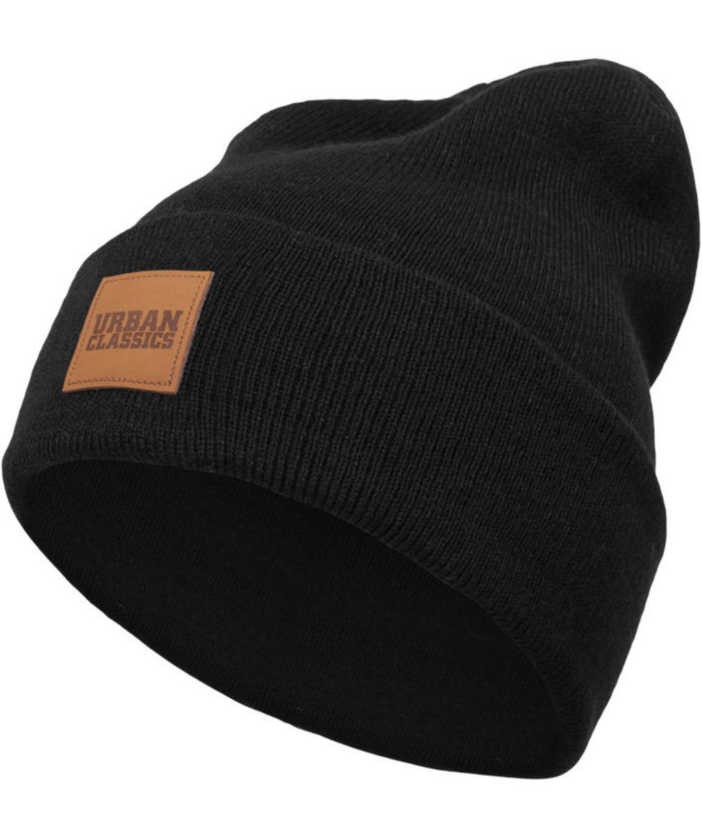 kulich URBAN CLASSICS - Leatherpatch - black - TB626
