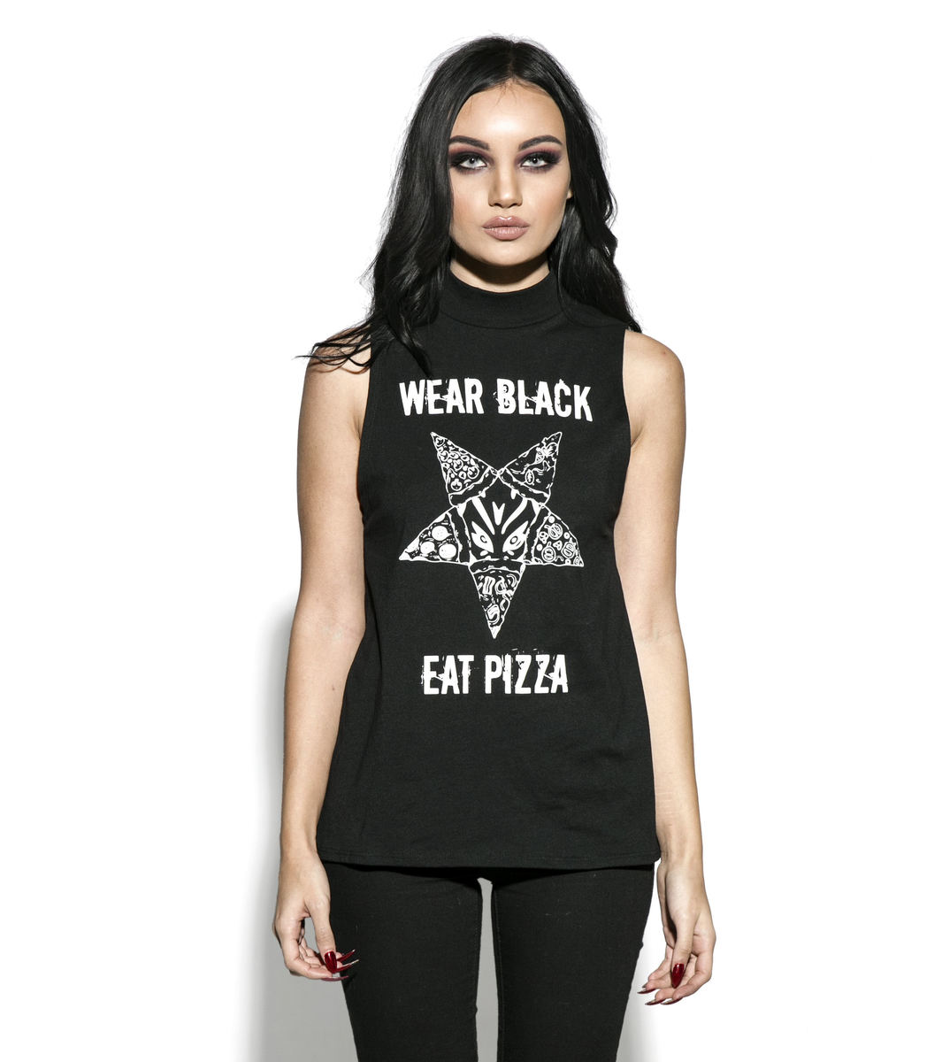 tílko dámské BLACK CRAFT - Wear Black Eat Pizza - PT007WB
