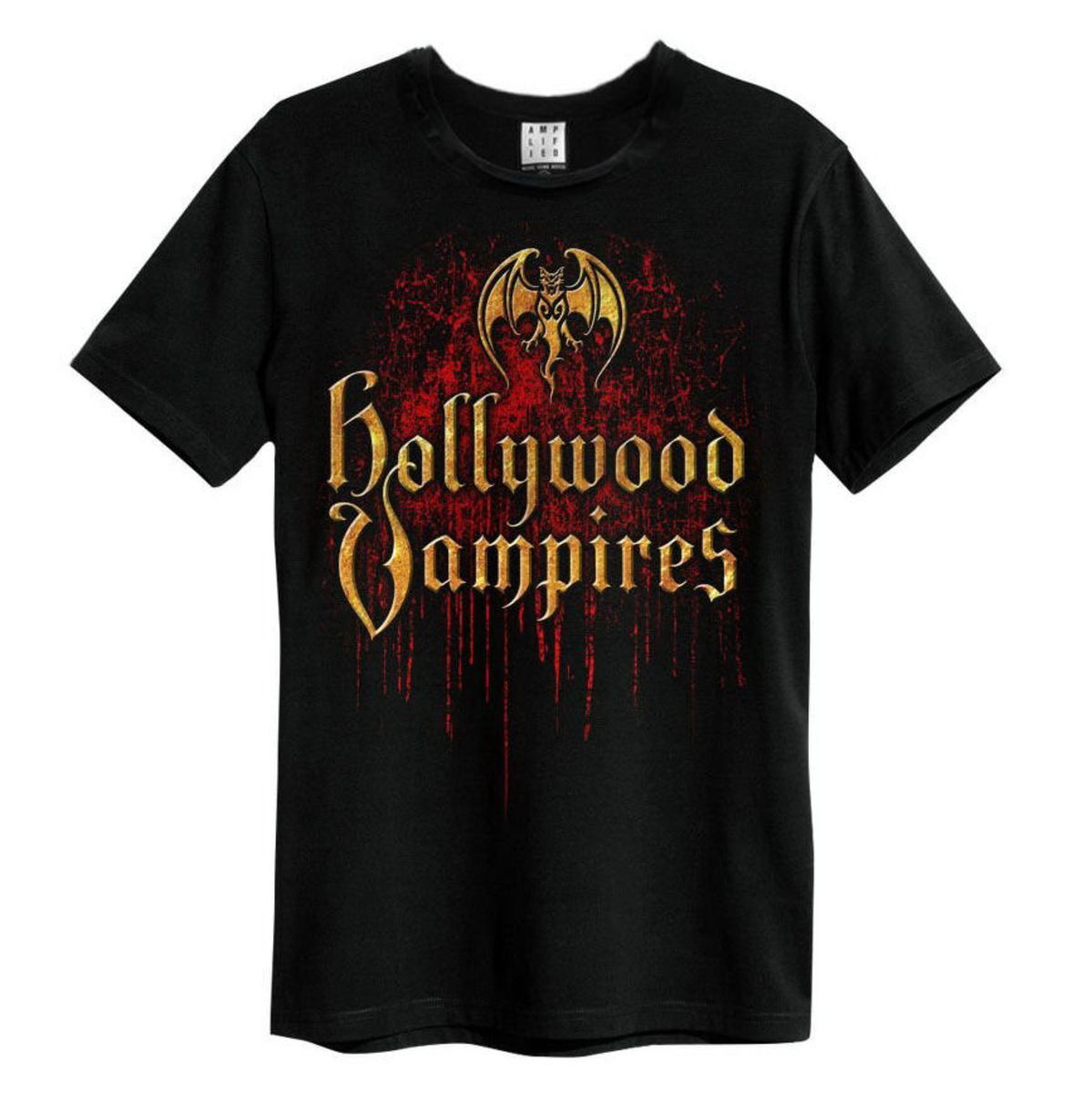AMPLIFIED Hollywood Vampires Bat Blood Logo černá