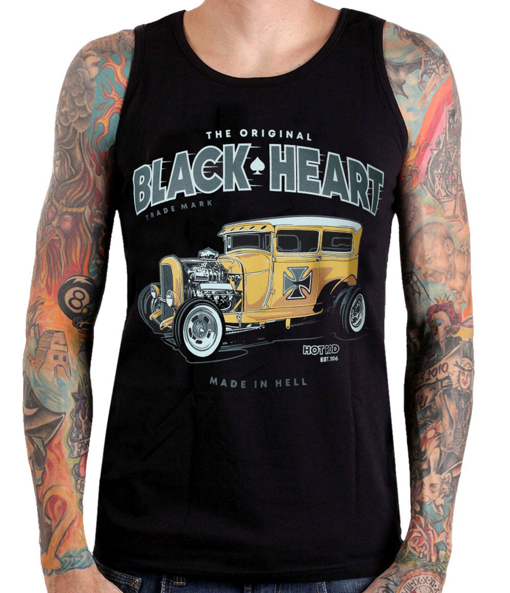 tílko pánské BLACK HEART - YELLOW BOY HOT ROD - BLACK - 002-0044-BLK