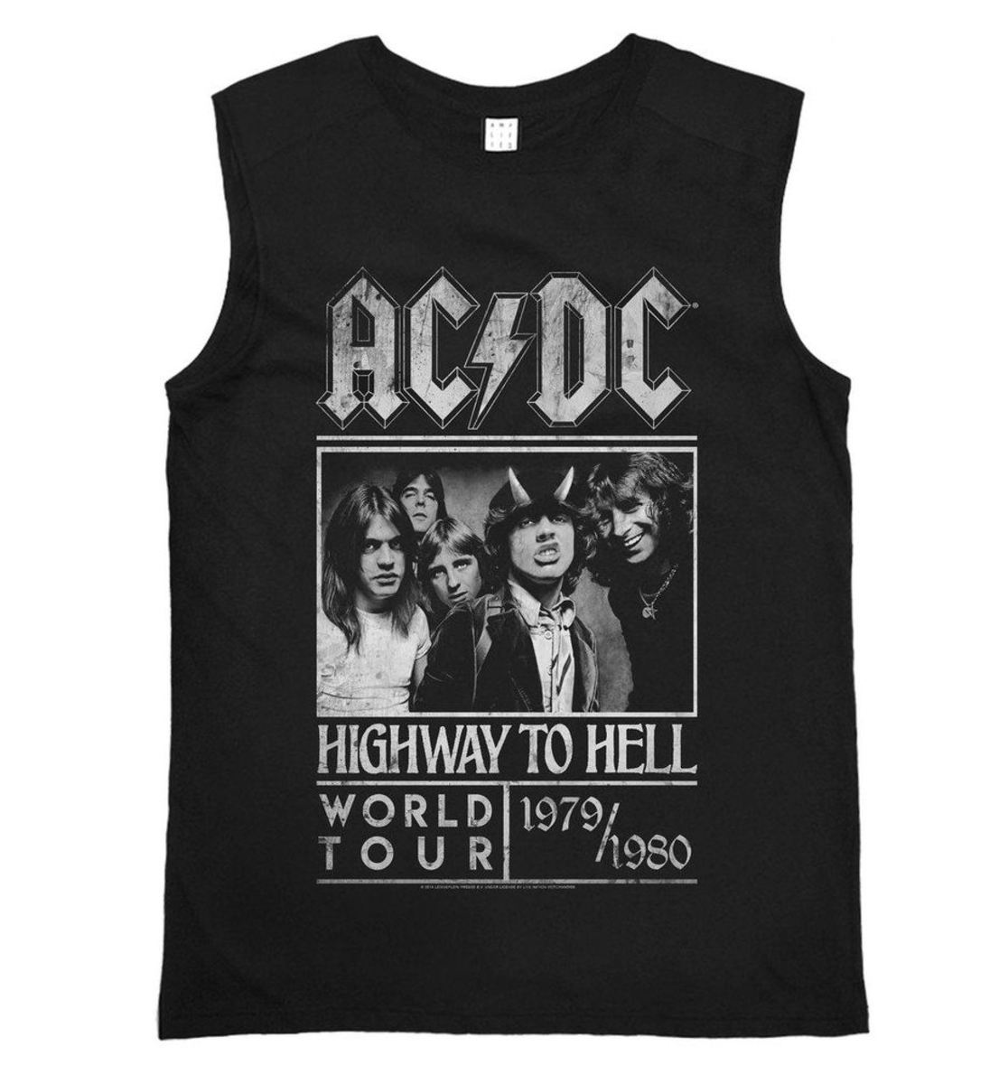 tílko pánské ACDC - HIGHWAY TO HELL TOUR - BLACK - AMPLIFIED - ZAV416B10