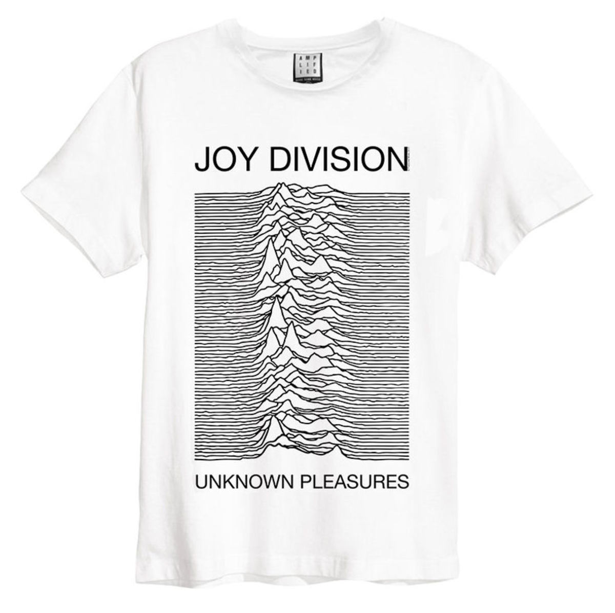 AMPLIFIED Joy Division Unknown Pleasures černá