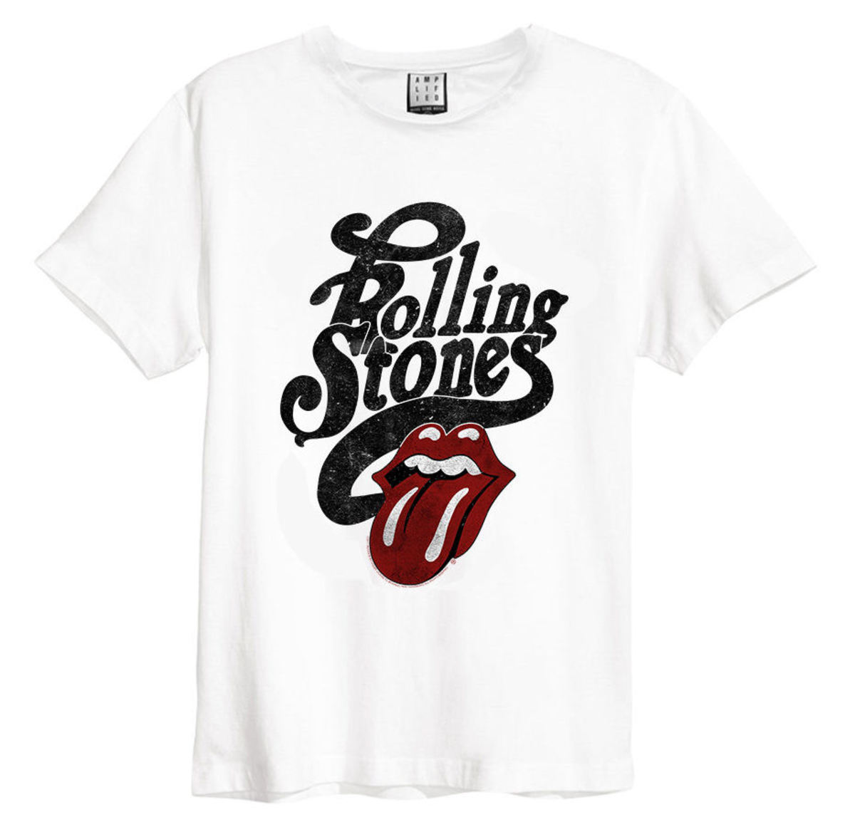 AMPLIFIED Rolling Stones Licked černá