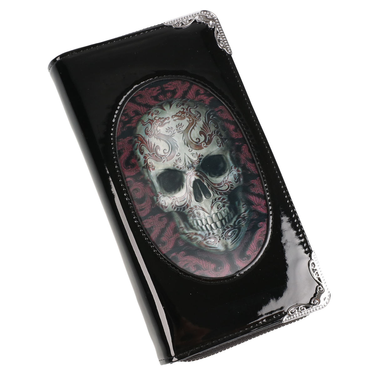 peněženka ANNE STOKES - Oriental Skull - Black - AS008
