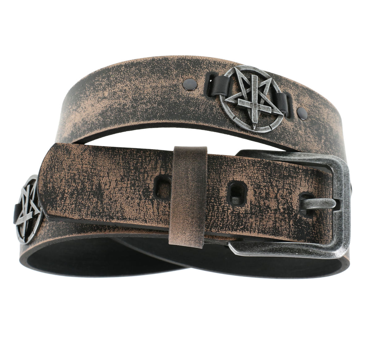 pásek Pentagram Cross - brown - LSF2 26 100