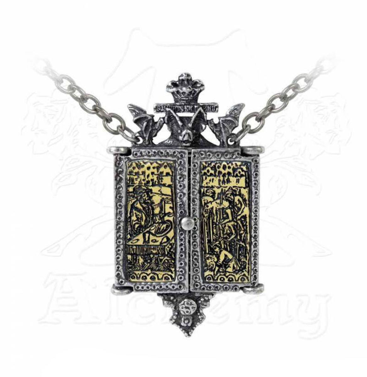 obojek ALCHEMY GOTHIC - Balkan Triptych Icon Locket - P826