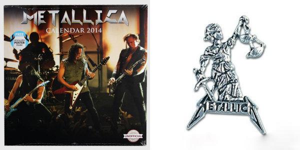 Balíček Metallica - kalendář a přívěsek s řetízkem