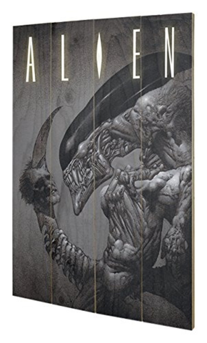 dřevěný obraz Alien - (Head On Tail) - PYRAMID POSTERS - SW11414P