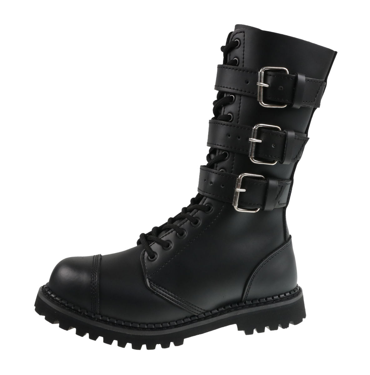 boty kožené unisex - Phantom Boots with Buckle - BRANDIT - 9005-black