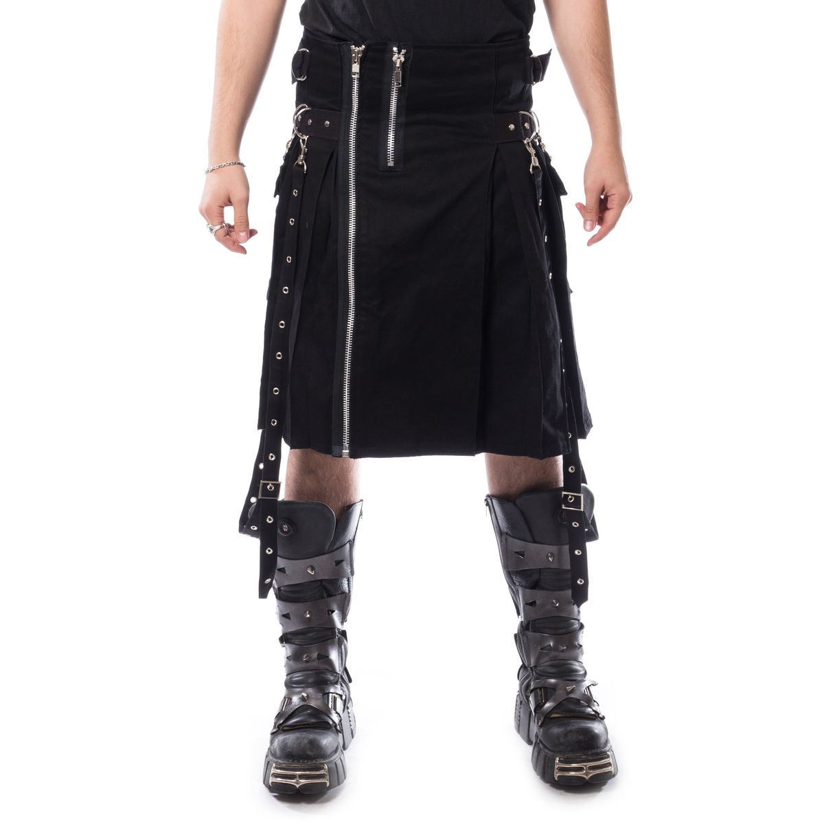 kilt pánský CHEMICAL BLACK - CARL - BLACK - POI759 S