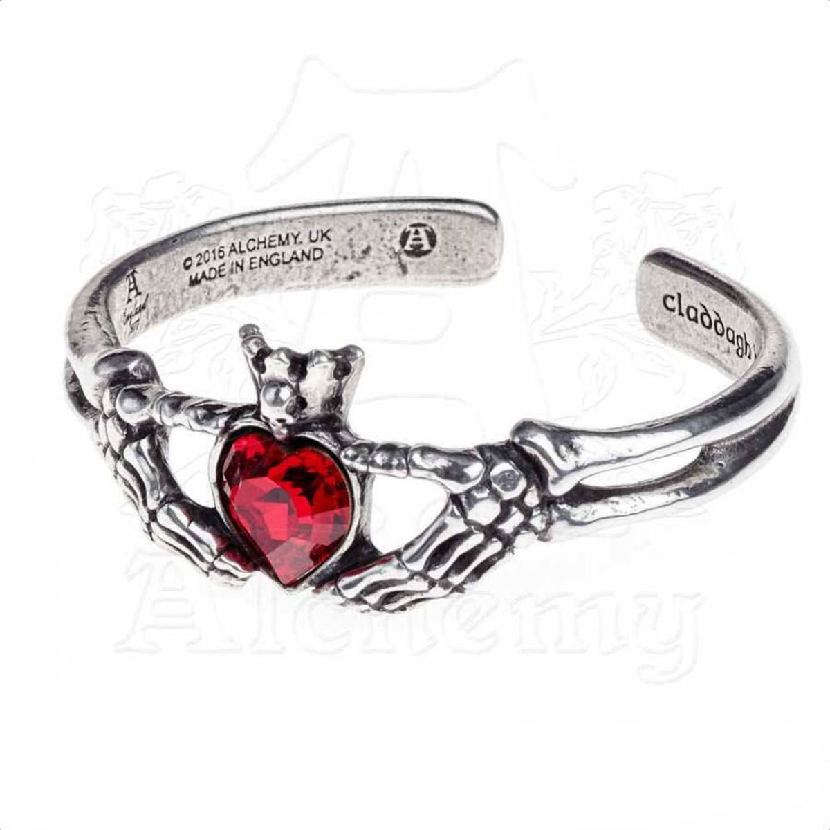 náramek ALCHEMY GOTHIC - Claddagh By Night - A114