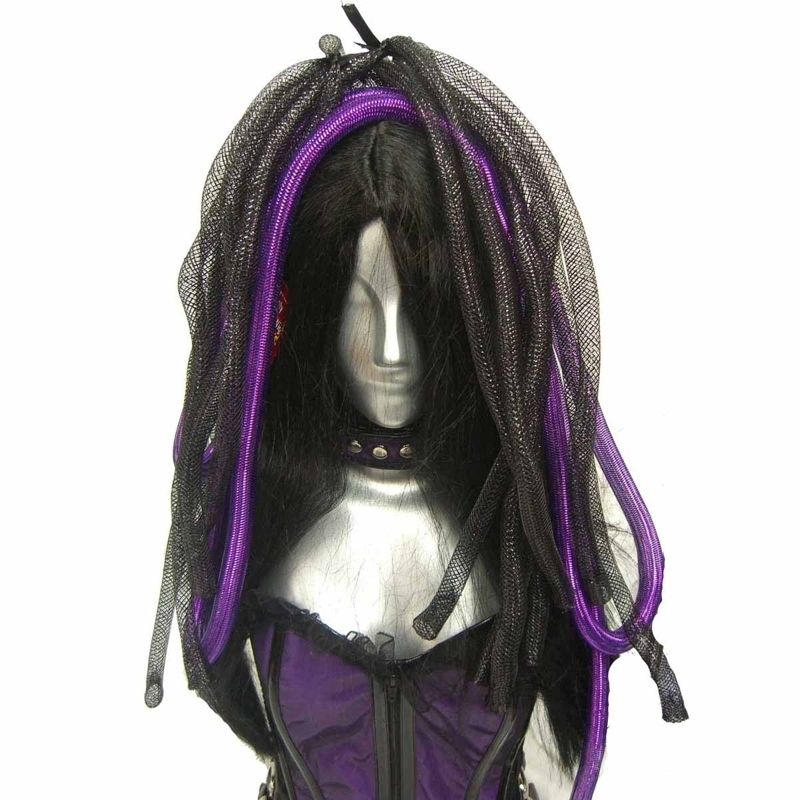 příčesek POIZEN INDUSTRIES CYBER LOX WIGS BLACK/PURPLE