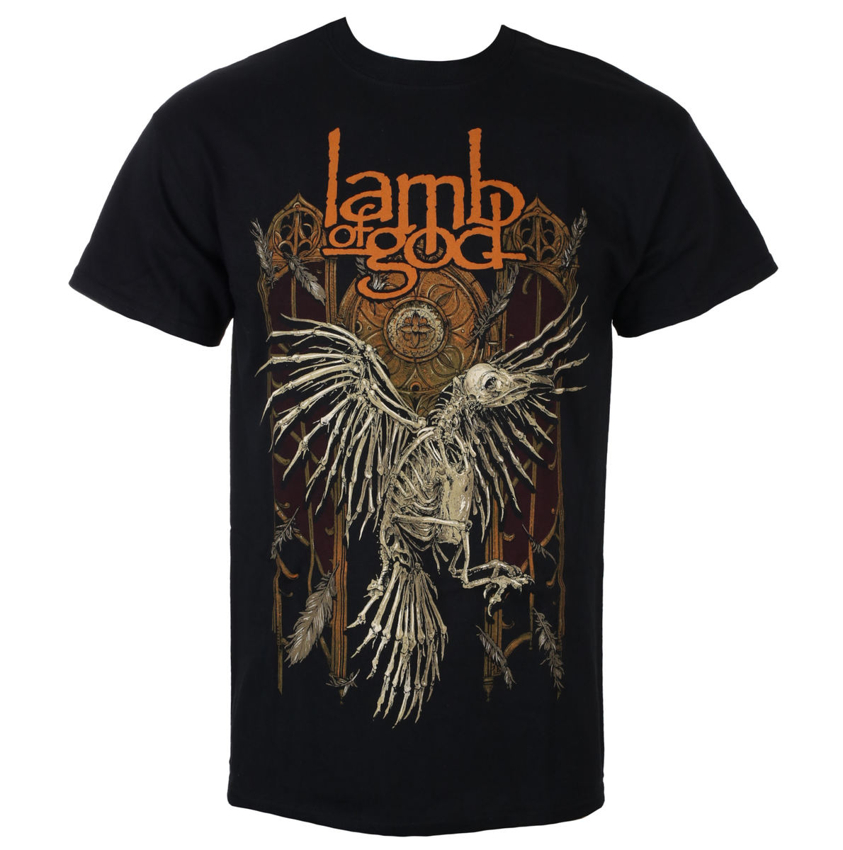 tričko pánské Lamb Of God - Crow - Black - ROCK OFF - LAMBTS01MB