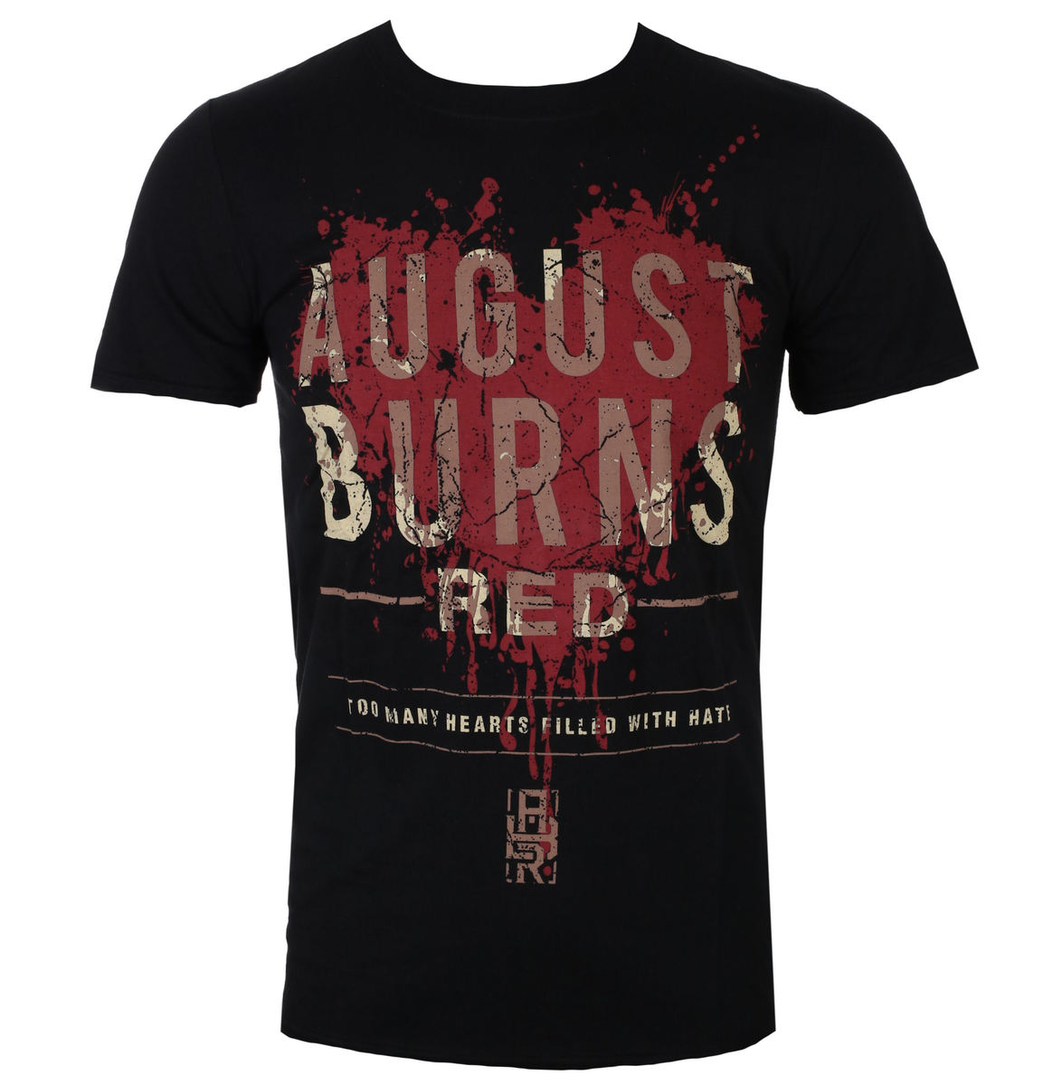 ROCK OFF August Burns Red Heart Filled černá