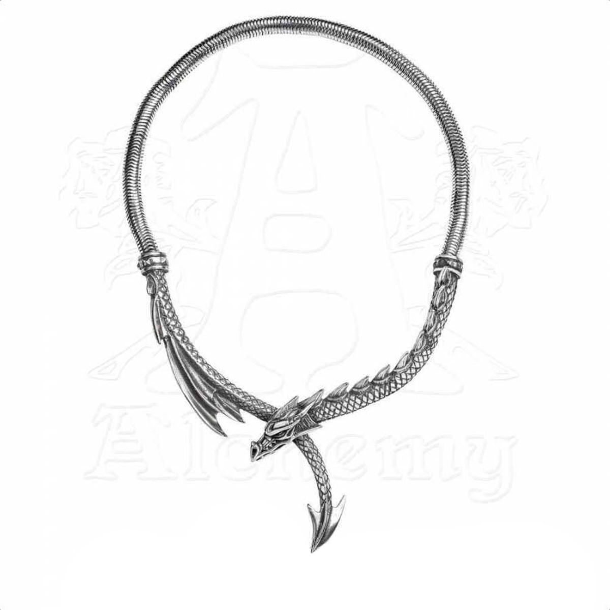 obojek ALCHEMY GOTHIC - Dragons Lure - P829
