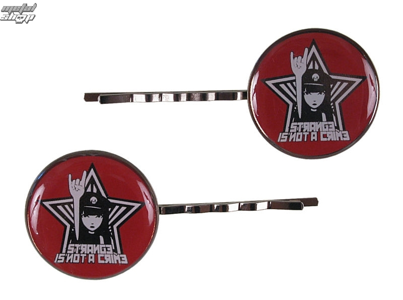 sponky EMILY THE STRANGE - Emily (E3082326) Strange Is Not a Crime Hairclips