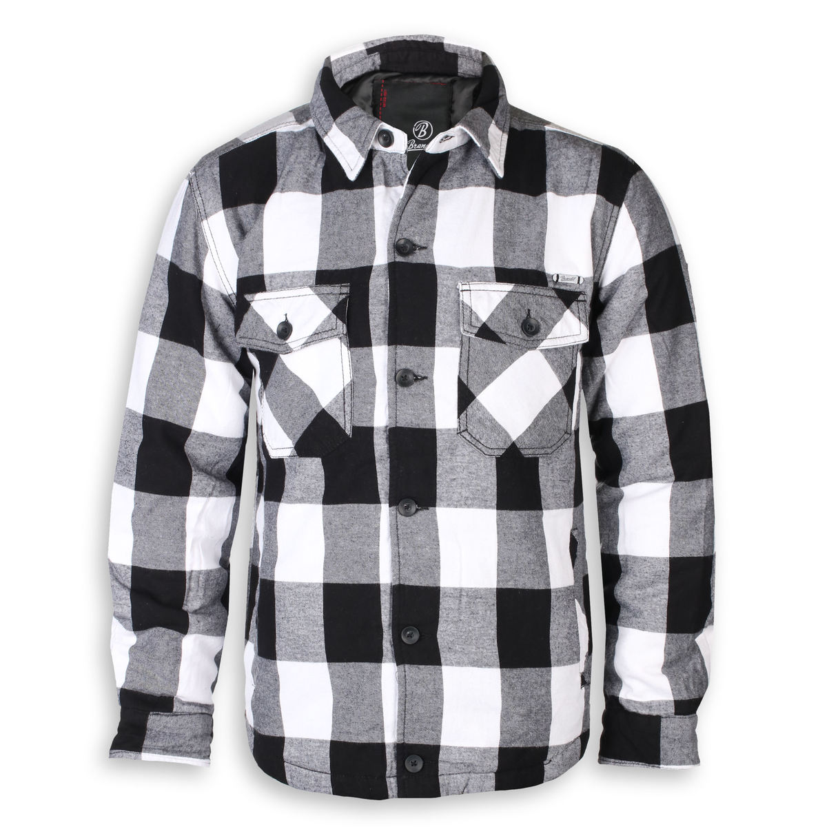 bunda zimní - Lumberjacket checked - BRANDIT - 9478-whiteblack check