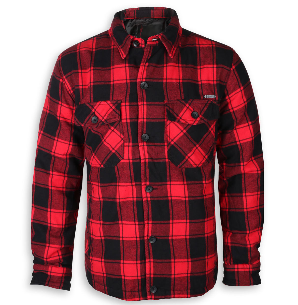 bunda zimní - Lumberjacket checked - BRANDIT - 9478-redblack checkered
