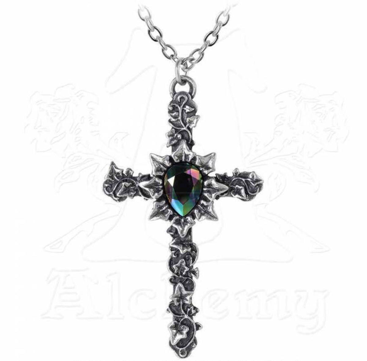 obojek ALCHEMY GOTHIC - Ivy Cross - P804