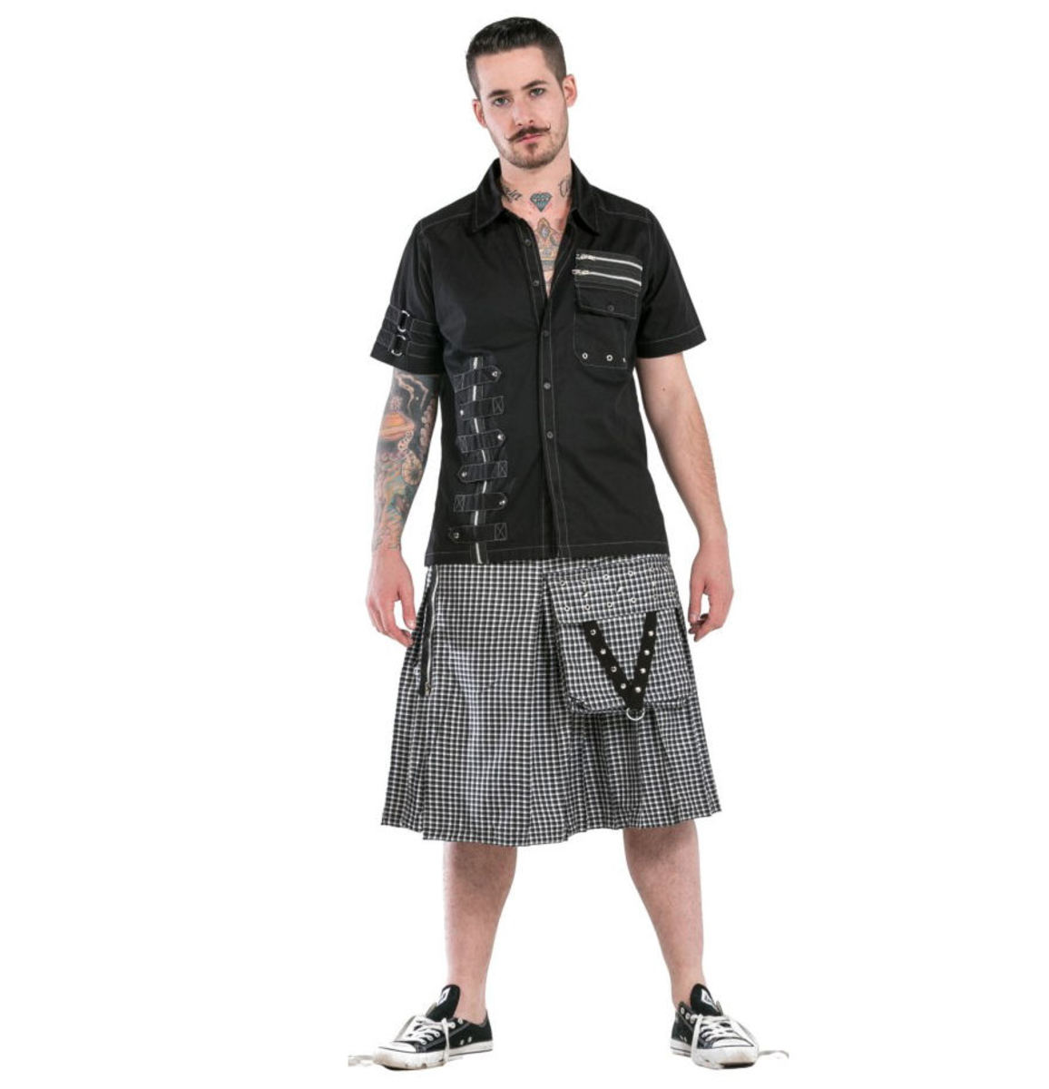 kilt pánský DEAD THREADS - KC9628 WHITE 30