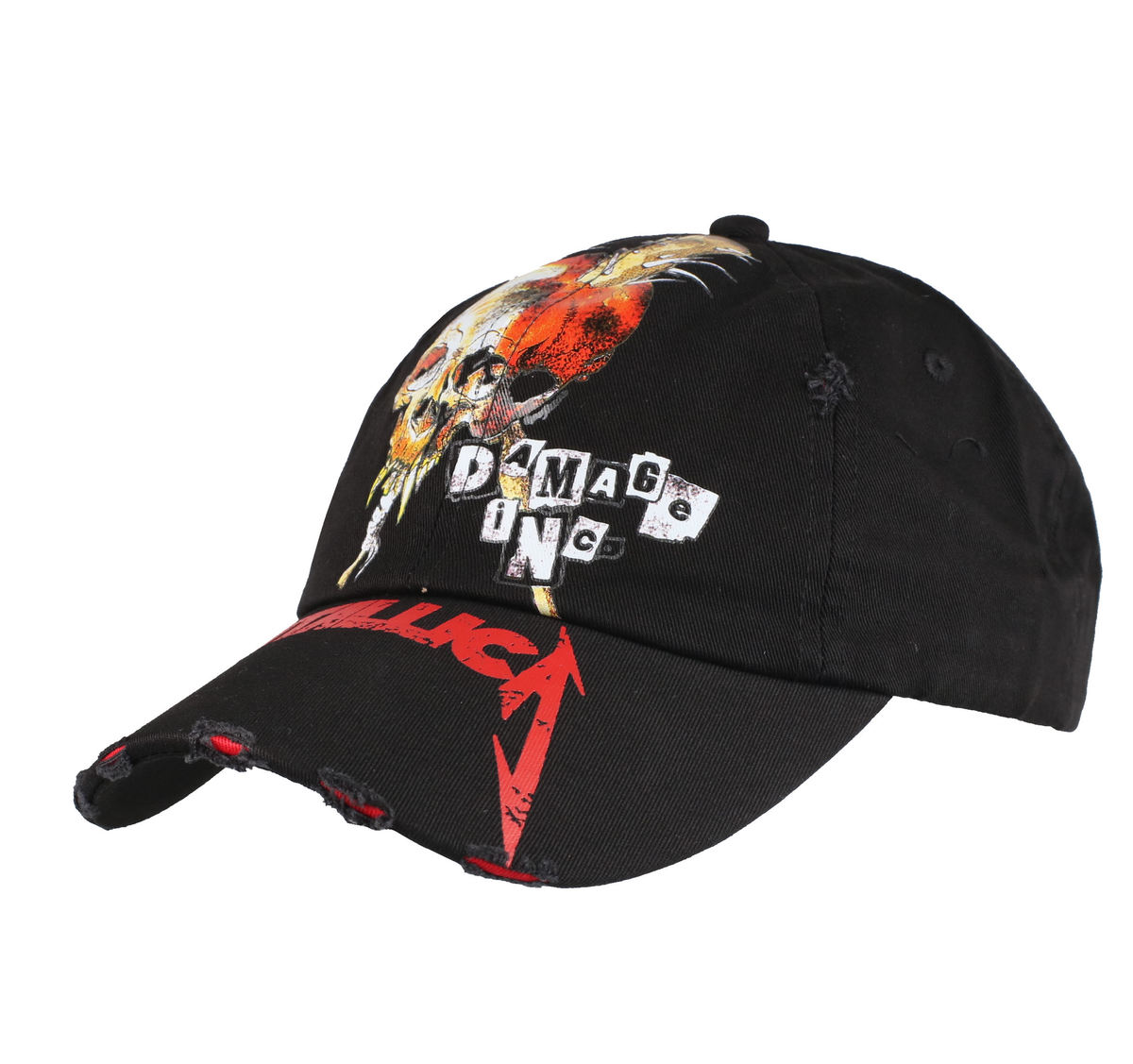 kšiltovka Metallica - Damage inc Distressed - Black - RTMTLSBCBDIS