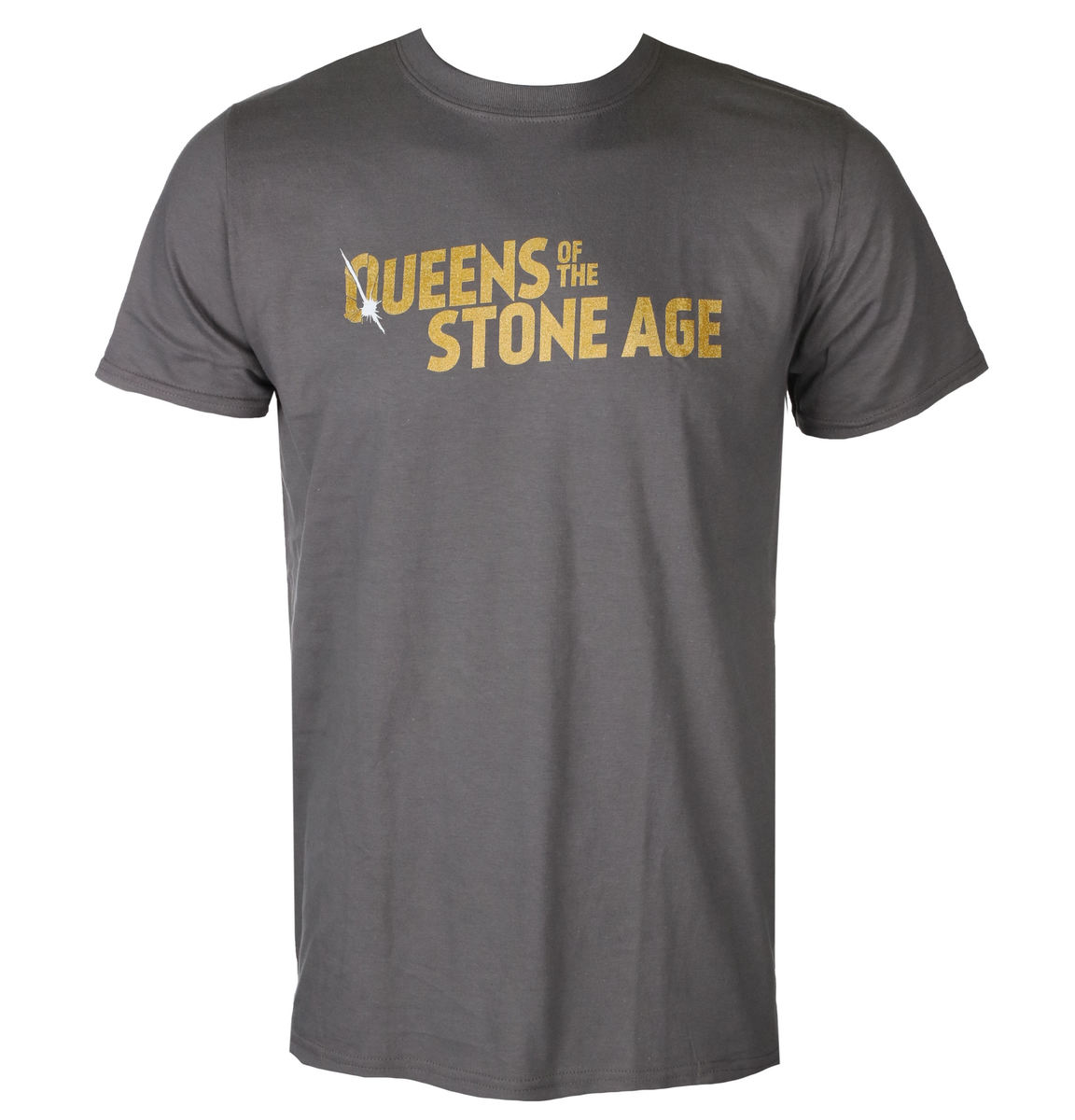 PLASTIC HEAD Queens of the Stone Age TEXT LOGO (METALLIC) černá