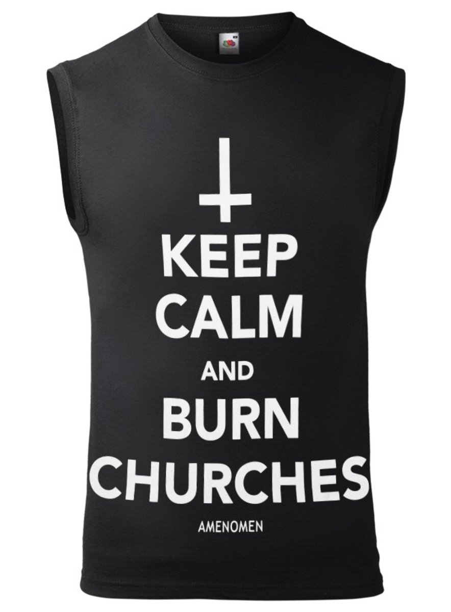 tílko pánské AMENOMEN - KEEP CALM AND BURN CHURCHES - OMEN069BR