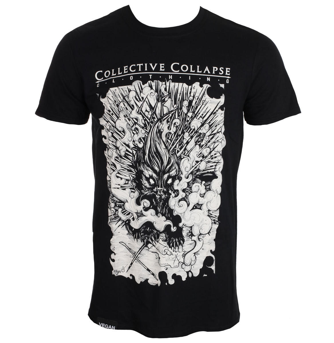 tričko pánské COLLECTIVE COLLAPSE - Needless - black - CCC012