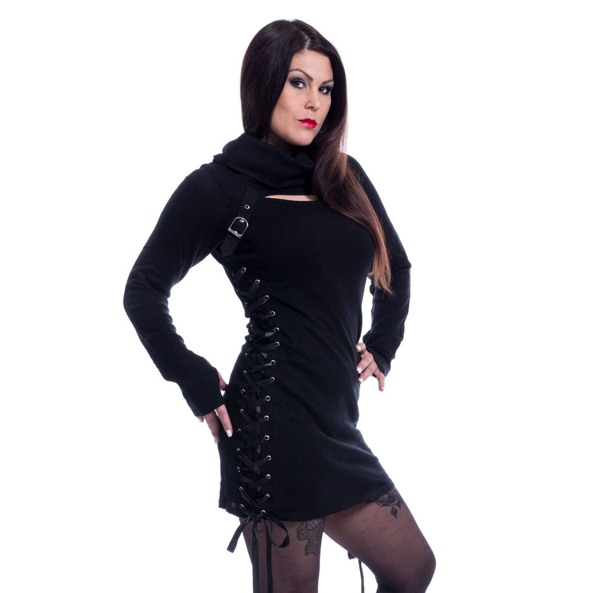 svetr dámský Poizen Industries - REECE TOP LADIES BLACK - POI500