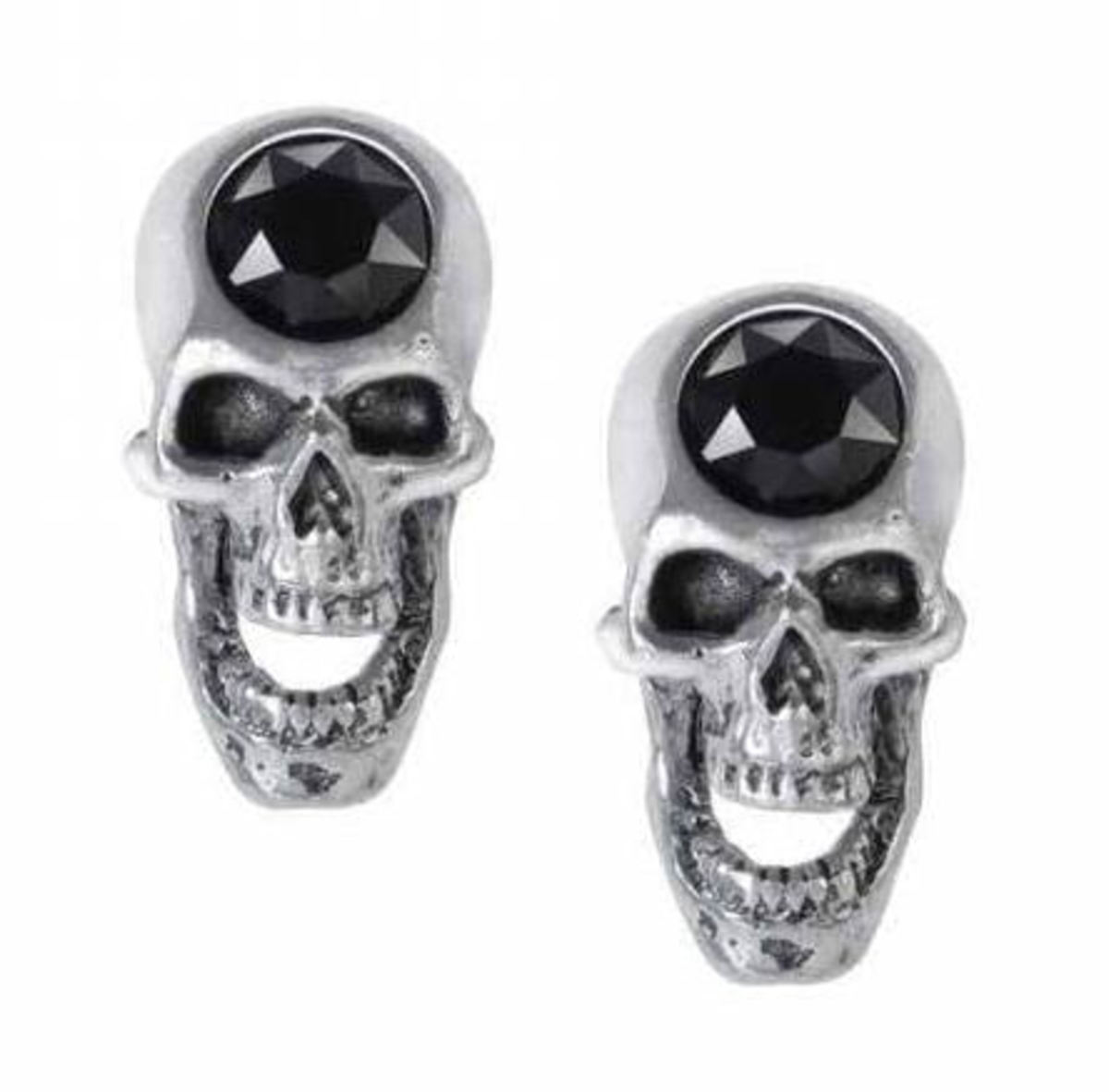 náušnice ALCHEMY GOTHIC - Screaming Skull - E427
