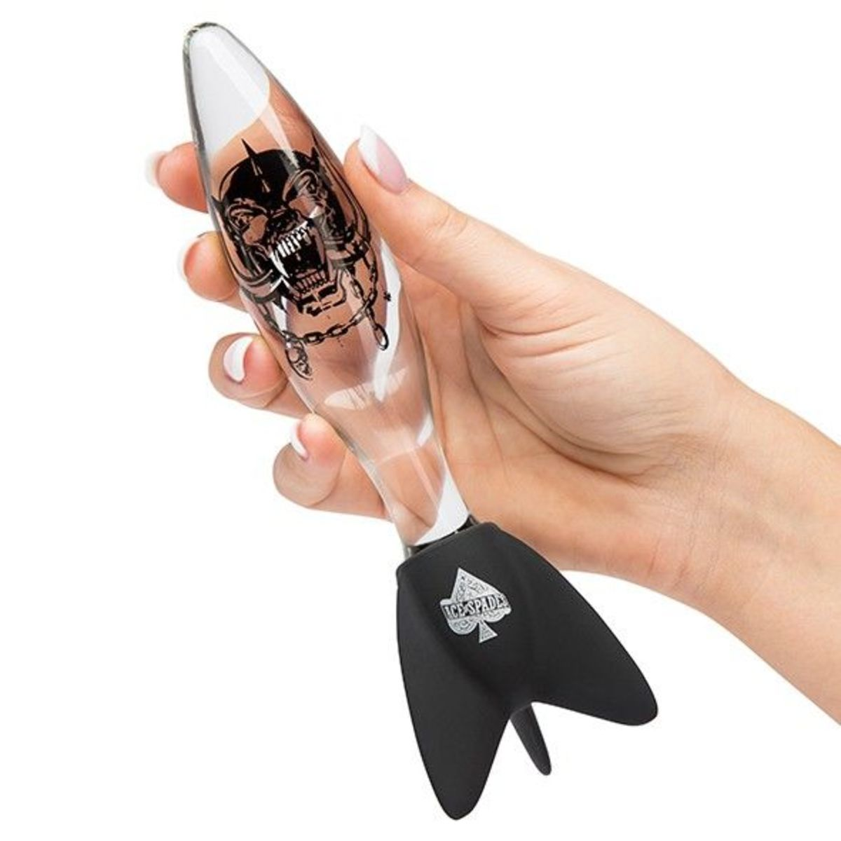 dildo Motörhead - Bomber Glass Clear - PLASTIC HEAD - MH-63530
