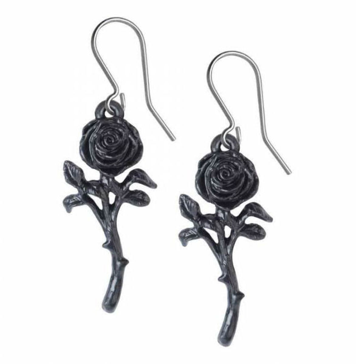 náušnice ALCHEMY GOTHIC - Romance Of The Black Rose - E421