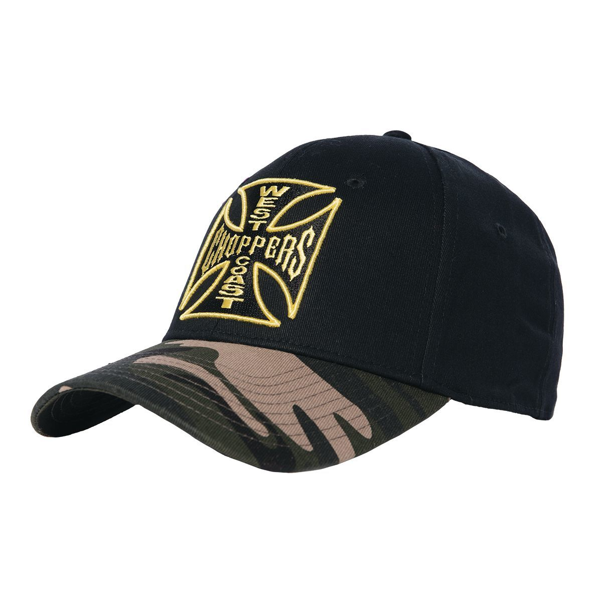 kšiltovka WEST COAST CHOPPERS - CAMO WARRIOR - Black - WCCPT140ZW