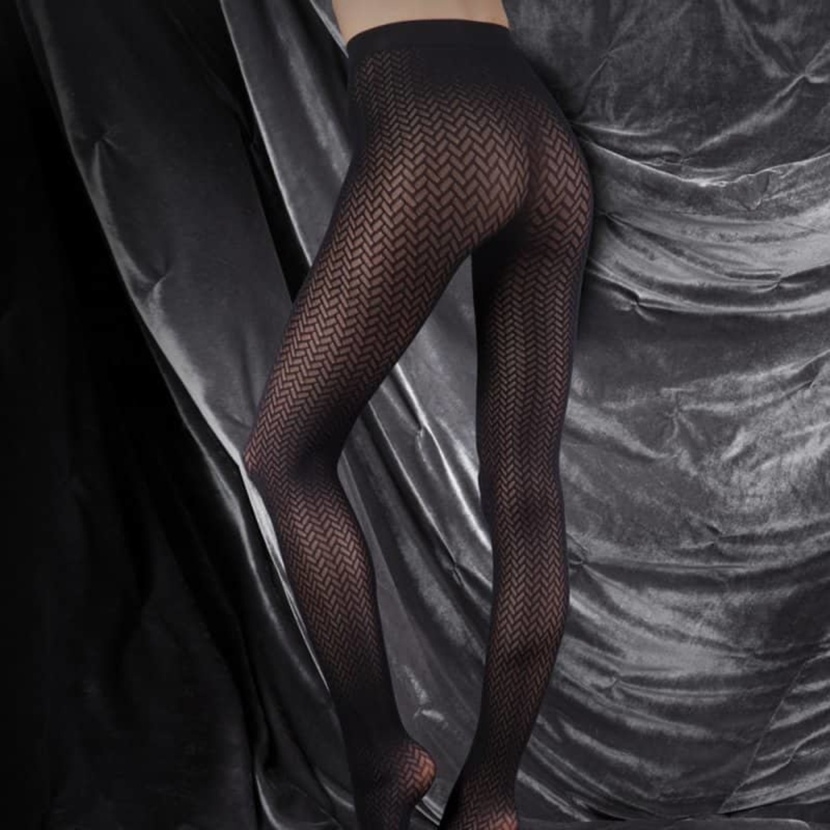 punčocháče LEGWEAR - couture ultimates - the catherine - black - CS008
