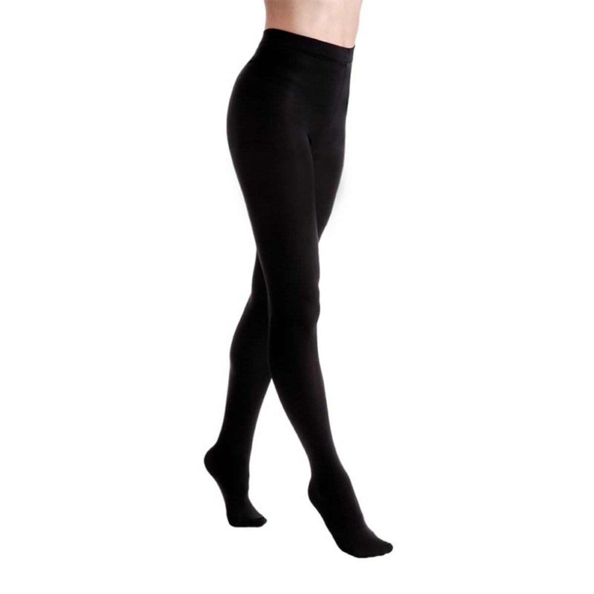 punčocháče LEGWEAR - Fashion velvet fleece lined - Black - OHFFTG2VB1 M