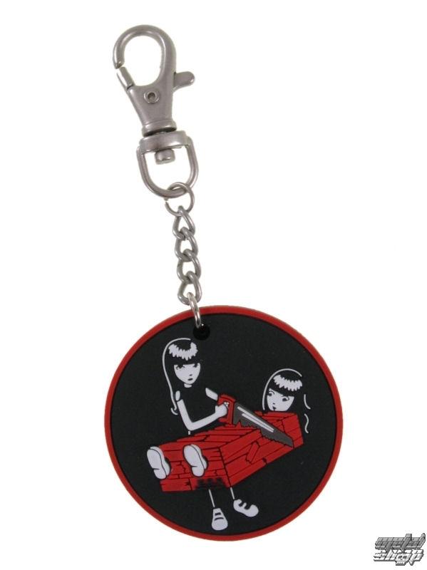 přívěšek EMILY THE STRANGE - Emily (E1092312) Two Halves keychain